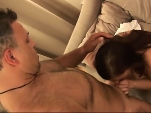 Tall amateur hotie Karla gives blowjob for casting