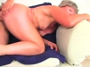 Old Age Woman Struggles Her Way To Orgasm