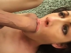 Taylor Rain enjoys having her boobs massaged by one guy, whi