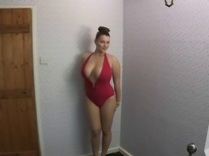 Showing off her new bathing suit