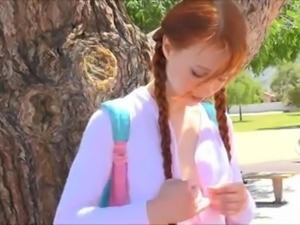 teen redhead