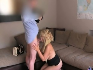Chubby blonde fucked at fake casting agency
