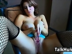 Babe Playing With A Dildo