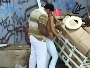 Gorgeous Brazilian slut is pounded in a filthy alley