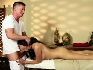 Very tricky massage room of bewitching masseur