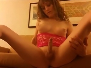 Shemale Makes Her Cock Dance