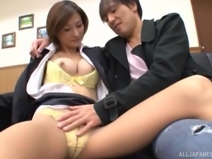 naughty asian slut gets dirty at work