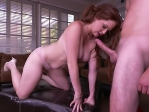 busty redhead milf craves for action