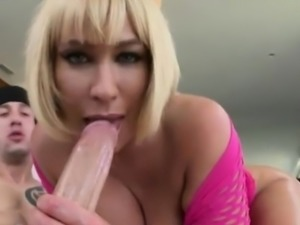 MILF with big ass and big tits gets fucked by monstercock