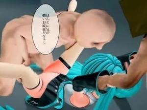 3D Teen Ravaged by Aliens in a Spaceship!