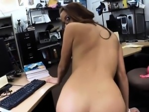 College babe in glasses sells her books and fucked for money