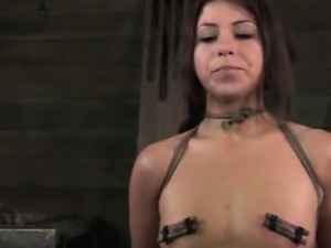 Nipple pumped bitch in humiliation treatment