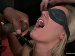 friendly blonde wife gets gang banged