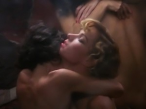 Brigitte Lahaie and Maite Maille- Henry and June