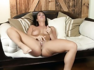Playful breathtaker Eva Lovia fucking herself like crazy in solo scene