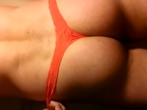I crossdress RED THONG