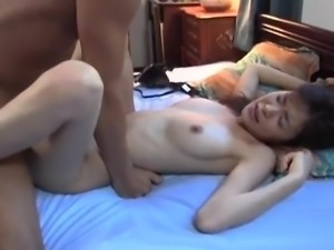 Hijiri Kayama licks her fingers of cum after strong drilling