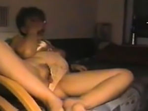 51 years old Tammy and her BF on spy camera
