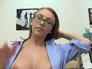 Slutty babes banged by one palpitating penis one by one