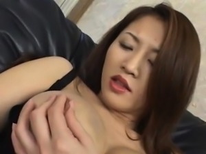 Yuki Touma fondles her hot cans and arouses nooky with