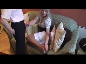 Blowjob and Nylon Footjob