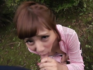 Anna gets his cum in mouth