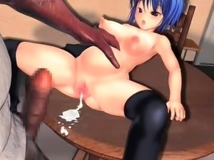 Naked hentai girl fucked and fisted hard in 3d anime