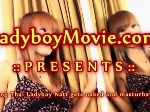 Teen Ladyboy Natt Masturbating