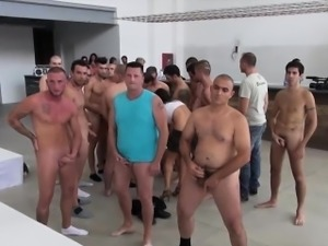 Incredible porn boot camp with gangbang and sperm feast!