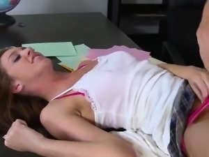 Slutty student wants to pass exam