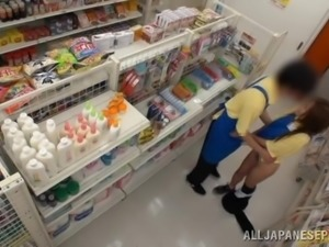 japanese babe gets fucked in the store