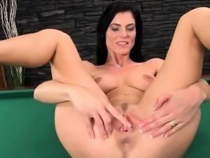Gyno dildo and hard vagina opening