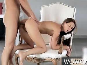 2 sex appeal chicks share one big dick between each other