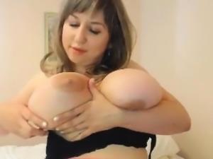 Slut With Large Breasts Teasing