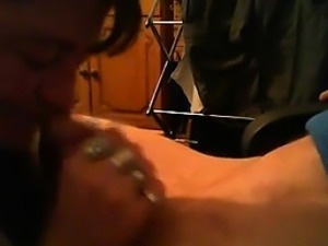 Mature Whore Sucks Some Cock