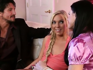 India Summer lures babysitter Ally Kay into threesome