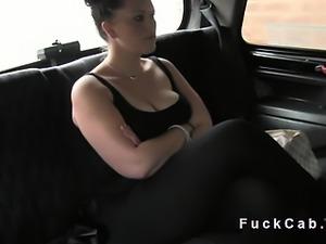 British plump babe bangs in fake taxi