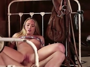 AJ Applegate is a brunette that is in a 69 position with a guy. Her huge ass...