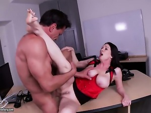 Mature Rayveness with juicy tits asks her man to stick his meaty meat pole in...