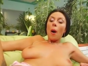 A Amazing black haired Big-Titted dame does some anal. She has her brown eye...