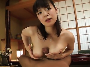 Busty Asian is getting cumshot