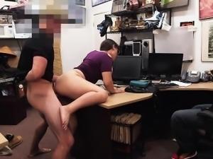 Brunette lesbian fucked in doggystyle