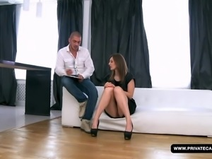 newbie alice has an anal audition and casting...