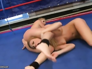 Blonde Lily Love shows off her hot body while getting her pussy eaten out by...