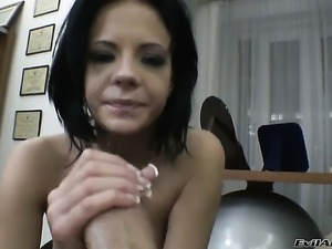 Rocco Siffredi drills attractive Alizs bum in every position before she gives...