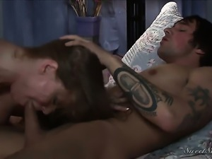 Darla Crane cant stop sucking in crazy oral action with hot fuck buddy Joey...