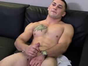 Amateur sailor tugs his cock
