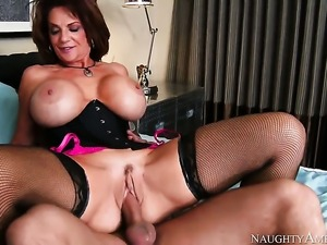 Huge tits milf has sex