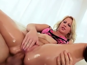 Kimmy Olsen is working out her ass in this video. A guy with a hard large...