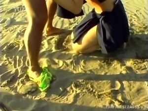 sexy sailor suit slut choked and fucked on the beach